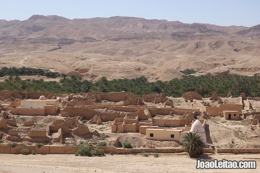 Tamerza abandoned village in Tunisia