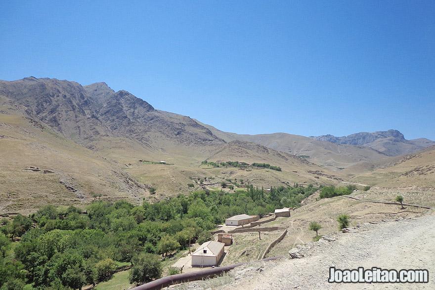 Ukhum mountain village in Uzbekistan