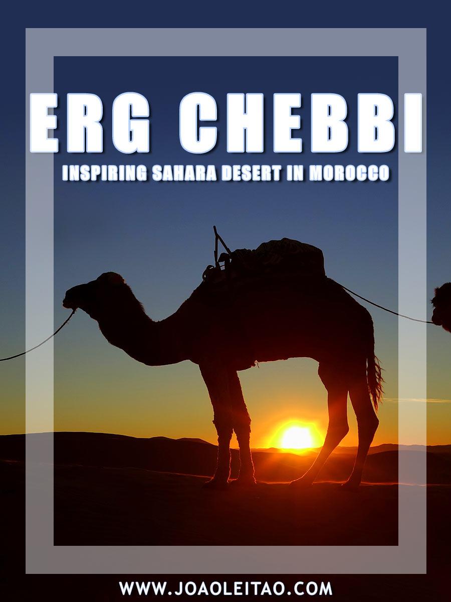 Inspiring Erg Chebbi Dunes in Sahara Desert, south Morocco