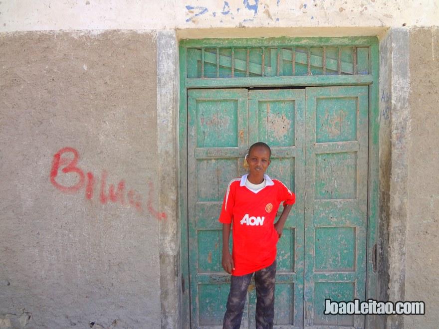 Kid in Berbera coastal city in the Gulf of Aden