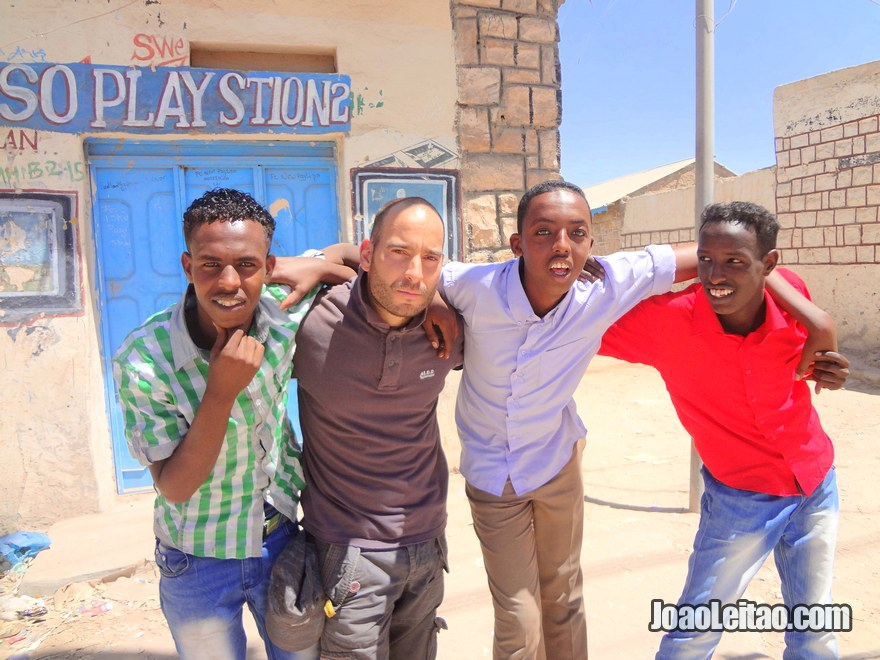 Me with friendly Somalian boys in Hargeisa