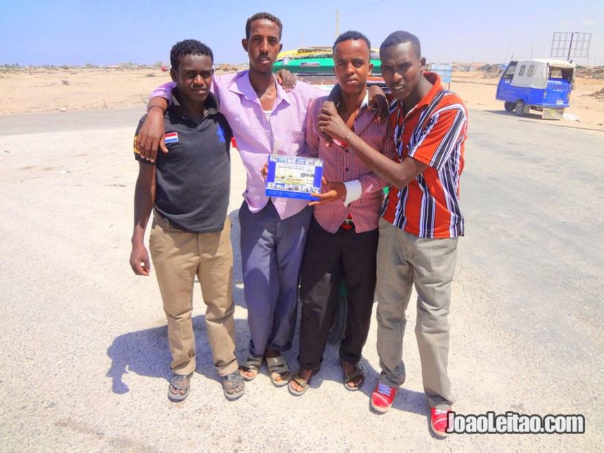 Young men in Berbera city, Somalia
