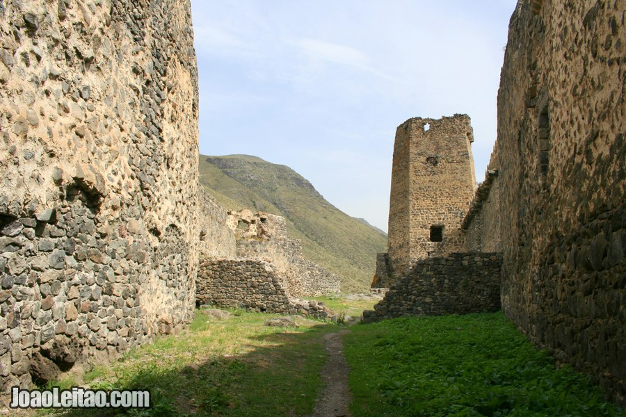 Inside part of the fort ruins, Khertvisi Fortress in Georgia