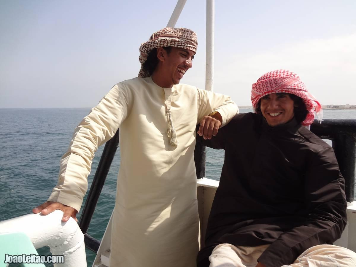 FRIENDLY MEN MASIRAH ISLAND OMAN