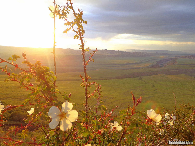 KYRGYZSTAN MOUNTAINS DURING SUNSET