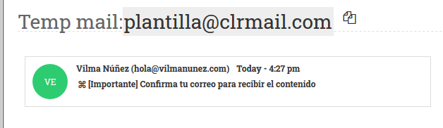 nada mail al ataque