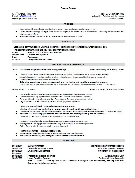 Combination Resume Templates  Resume Sample