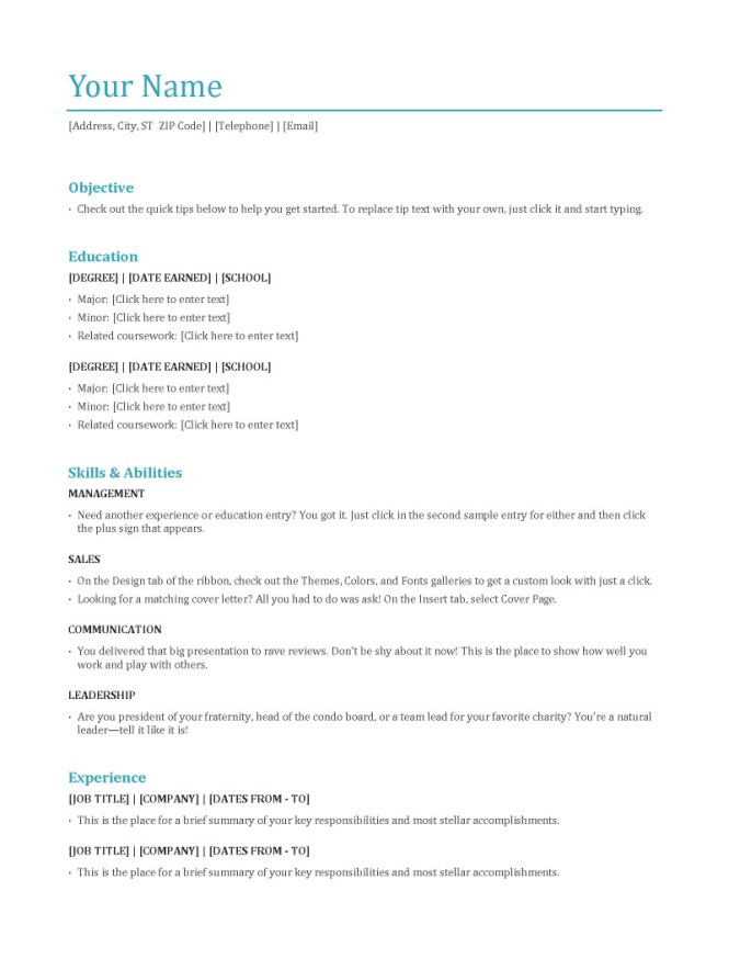 Different Resume Formats  Resume Sample