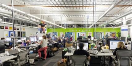 Trabajadores oficinas de Facebook