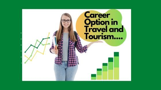 Girl in telling about career option in travel and tourism industry