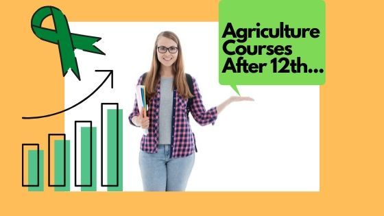 Standing girl teaching students about agriculture courses after 12th