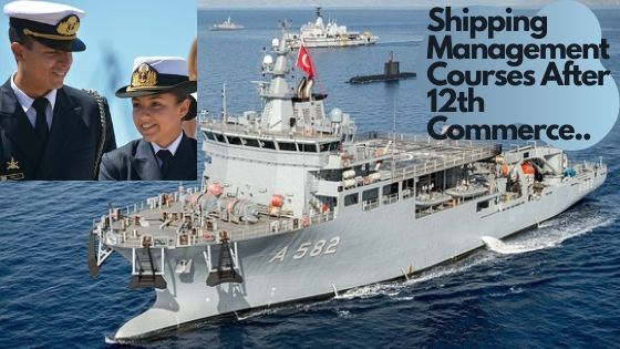 Girl and boy dreshed under shipping uniform after get hired in shipping management course after 12th commerce