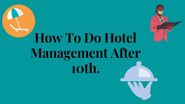 Light Blue color of bag round with black text words How To Do Hotel Management After 10th.