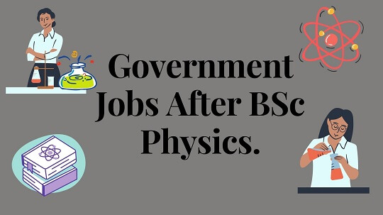 Light gray color of bagroaund along with black text words Government Jobs After BSc Physics.