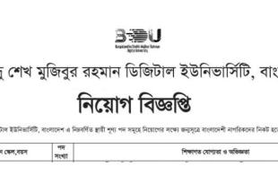 Bangabandhu Sheikh Mujibur Rahman Digital University BDU Job Circular