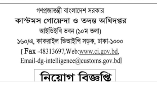 Directorate Of Customs Intelligence And Investigation CIID Job Circular 2019