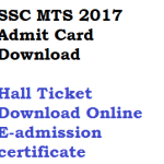 SSC MTS Re Exam Admit Card 2017 Download Hall Ticket Online Tier 1