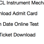 GSECL Instrument Mechanic Admit Card 2017 Download Exam Date