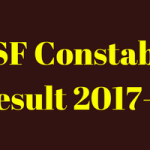 BSF Constable Result 2018 Tradesman Merit List Cut Off Marks