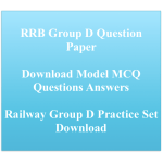 RRB Group D Previous Years Question Paper Download Solved PDF