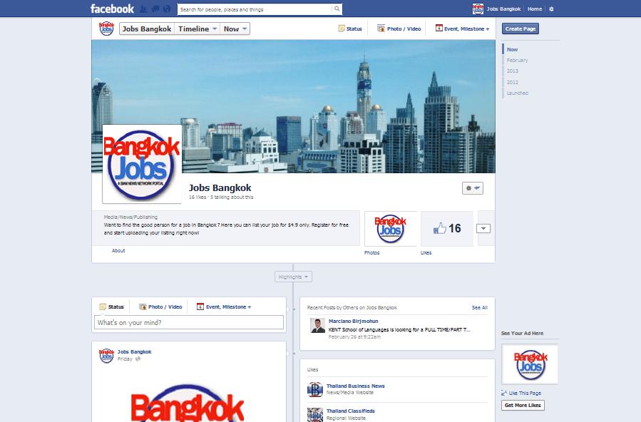 Thailand: Facebook Bangkok Jobs