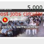 Bangladesh Govt High School Collage Jobs Circular 2016