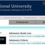 National University Honours First Year Exam Result 2016 www.nu.edu.bd