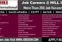 Hill International Careers Recruitment in USA-KSA-Qatar-Egypt-India Required Urgently