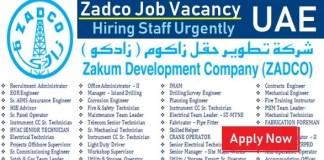 Zadco Careers UAE Zadco Offshore Oil and Gas Urgent Staff Recruitment Abu Dhabi