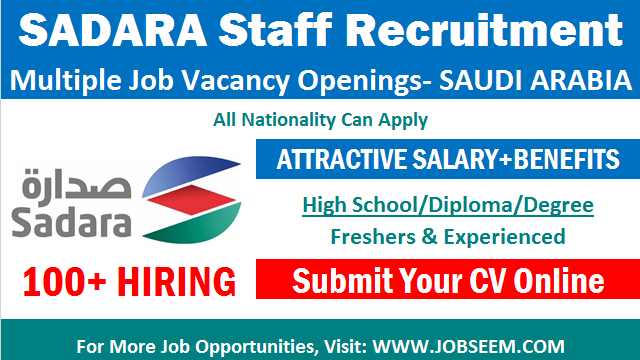 Sadara Careers Chemical Company Jobs in Saudi Arabia