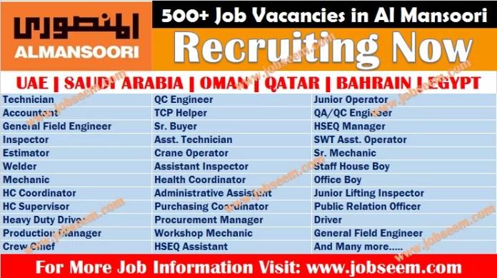 AlMansoori Jobs Vacancies 2020 | Oil and Gas Careers in UAE-Oman-Qatar-Kuwait-KSA-India
