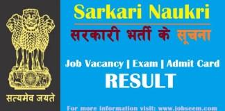 Sarkari Job and Exam Result Sarkari Naukri Daily Info in Hindi 2020