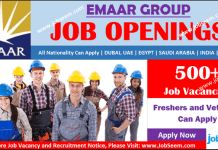 Emaar Careers Recruitment, Apply for Emaar Group Jobs Vacancy Opening and Hiring