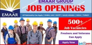 Emaar Careers Recruitment, Apply for Emaar Group Jobs Vacancy Opening and Hiring