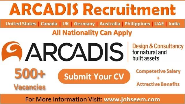 Arcadis Careers New Job Vacancy Openings and Employee Recruitment