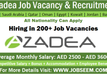 Azadea Careers Job Openings in UAE-KSA-Qatar-Kuwait-Egypt