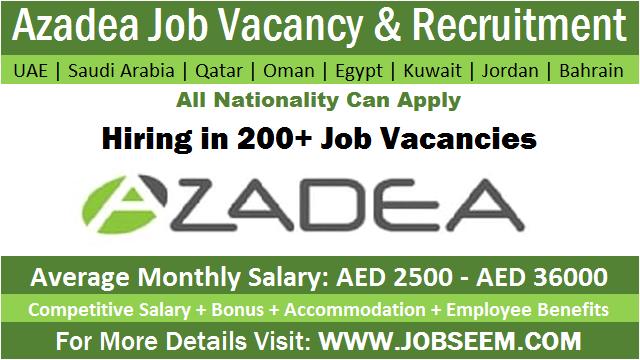 Azadea Careers Job Openings in UAE-KSA-Qatar-Kuwait-Egypt