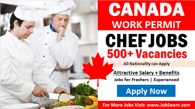 Chef Jobs in Canada Cook Job Vacancies for Foreigners