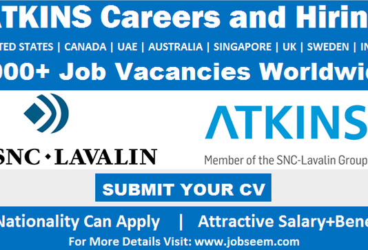 Global Atkins Careers and Job Vacancy Openings Urgent Recruitment