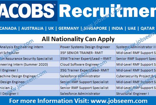 Jacobs Careers Hiring and Recruitment Jacobs Engineering Jobs Vacancies