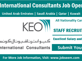 KEO International Consultants Careers Opening and New Job Vacancy Recruitment