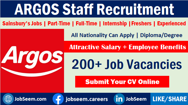 Argos Jobs Latest Careers Vacancy and Staff Recruitment Opportunities