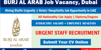 Burj Al Arab Careers Recruitment Latest Hotel Job Vacancies Dubai UAE