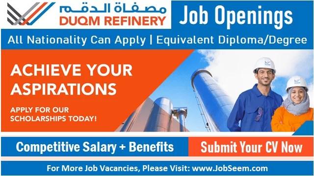 DUQM Refinery Careers Recruitment Latest Job Vacancies in Oman