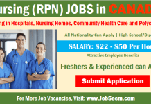 Nursing Jobs in Canada Registered Practical Nurse- RPN Careers Vacancy Openings