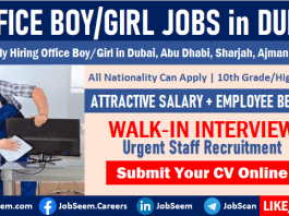 Office Boy Jobs in Dubai for Freshers 2020 with Salary Free Visa Walk-in-Interview Vacancies Available