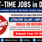 Part Time Jobs in Dubai UAE for Male Female Freshers Vacancies with Salary