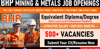 BHP Careers and Staff Recruitment Mining & Metal New Job Vacancy Openings
