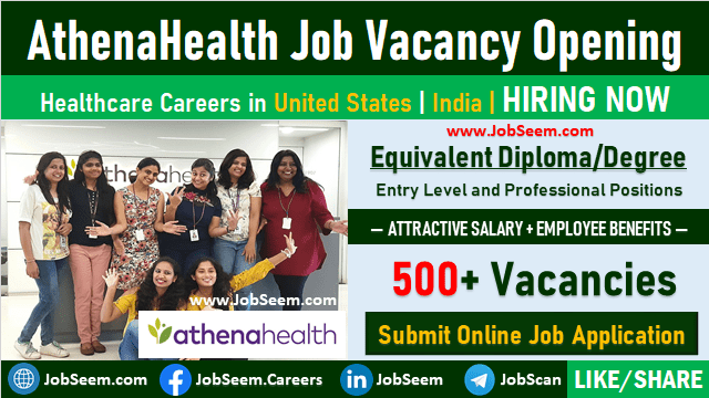 Athenahealth Careers Recruitment Urgent Job Vacancies and Staff Hiring