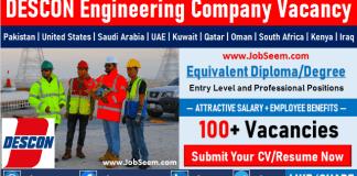 Descon Engineering Careers Opening Latest Job Vacancies and Direct Staff Recruitment